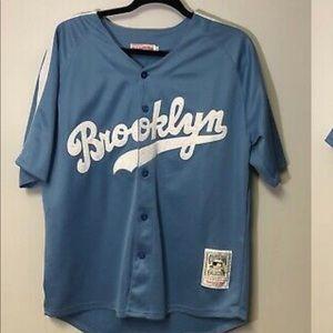 Brooklyn Dodgers Jackie Robinson light blue jersey